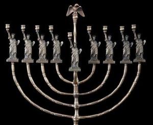 statue of liberty menorah